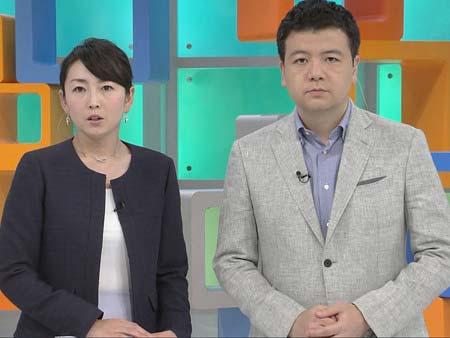 『ゆうがたサテライト』に出演していた進藤隆富&狩野恵里アナウンサー