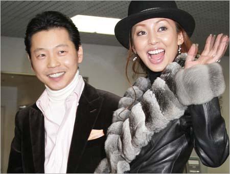 神田うのと西村拓郎のツーショット写真