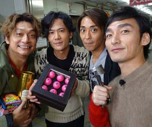 SMAPの香取慎吾、稲垣吾郎、森且行、草彅剛
