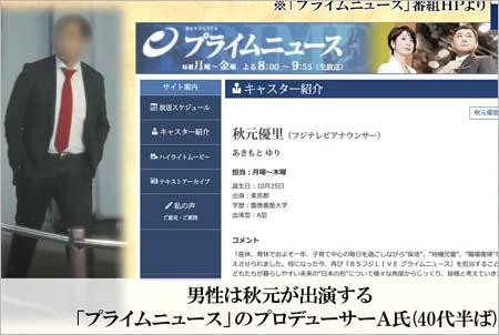 『BSフジLIVEプライムニュース』のプロデューサー・A