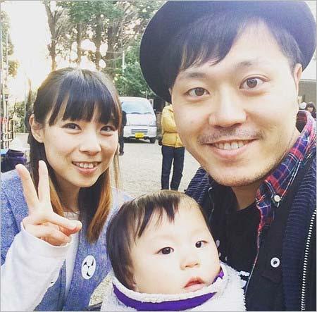 エハラマサヒロと妻・千鶴