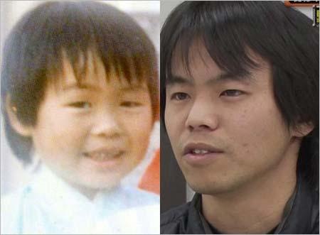 身元不明者・和田竜人、行方不明男児・松岡伸矢の顔比較画像