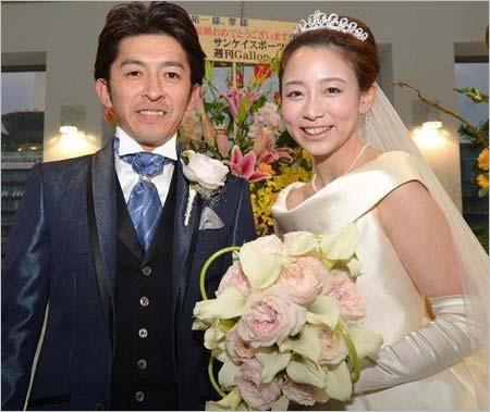 松尾翠アナと福永祐一騎手の結婚式ツーショット