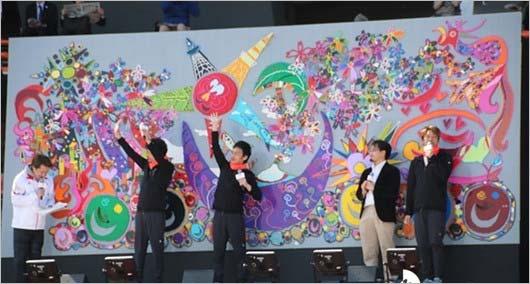 『パラ駅伝 in TOKYO 2018』で披露したレゴ壁画