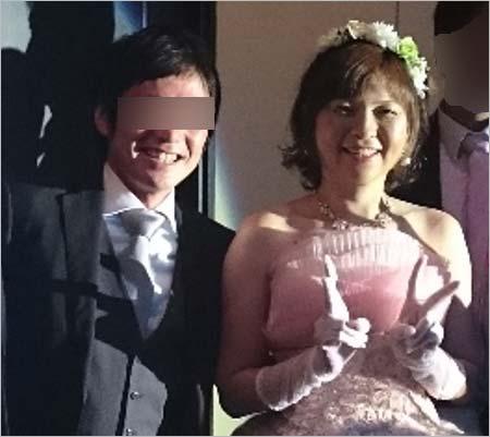 原裕美子容疑者の結婚式