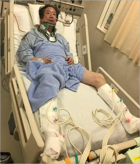 木原実が脊髄損傷(脊椎損傷)で入院