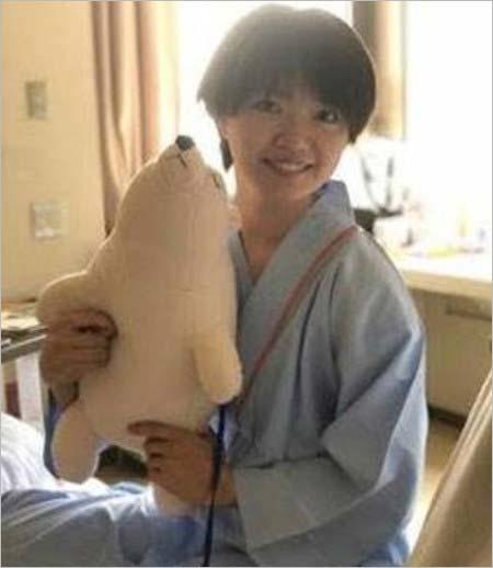 矢方美紀が入院中の撮影の写真