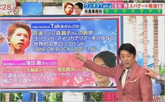 バイキングでワンオクTaka&浅田舞の熱愛報道に言及していた坂上忍の画像1枚目