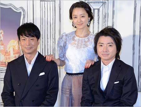 舞台『レインマン』出演の椎名桔平、中越典子、藤原竜也