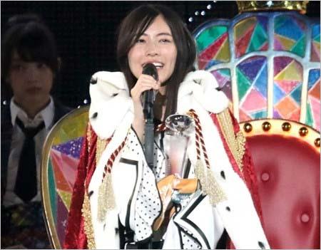 『第10回AKB48世界選抜総選挙』で1位の松井珠理奈