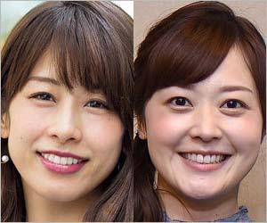 元フジテレビの加藤綾子アナウンサー&水卜麻美アナウンサー