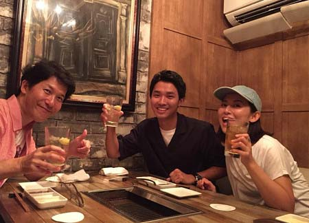 福田彩乃がインスタグラムで公開の渡辺裕太、宮川一朗太との食事会写真