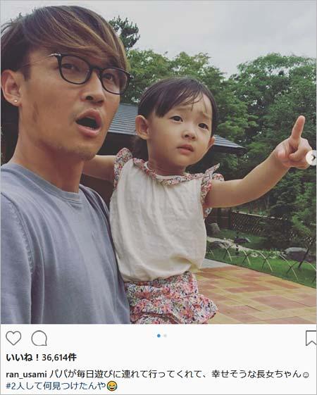 宇佐美貴史選手と長女・菫