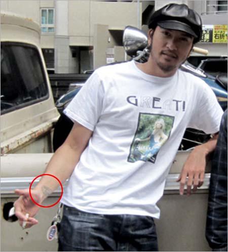 長瀬智也の手首のタトゥー画像