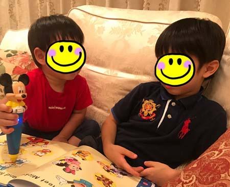 小倉優子の長男と次男の画像