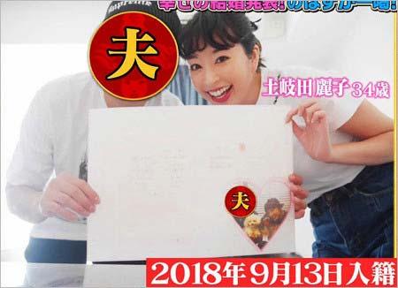 土岐田麗子と結婚相手の夫