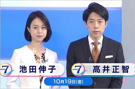 池田伸子アナ『NHKニュース7』代役