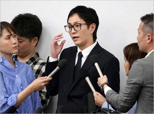 浦田直也容疑者の会見画像2枚目