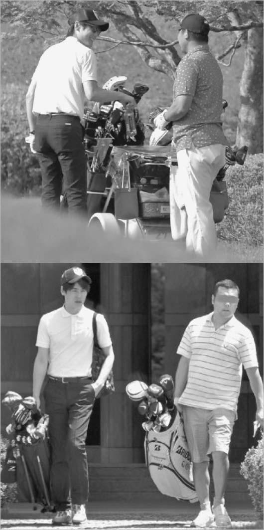 松坂大輔と上重聡アナのゴルフ・フライデー画像