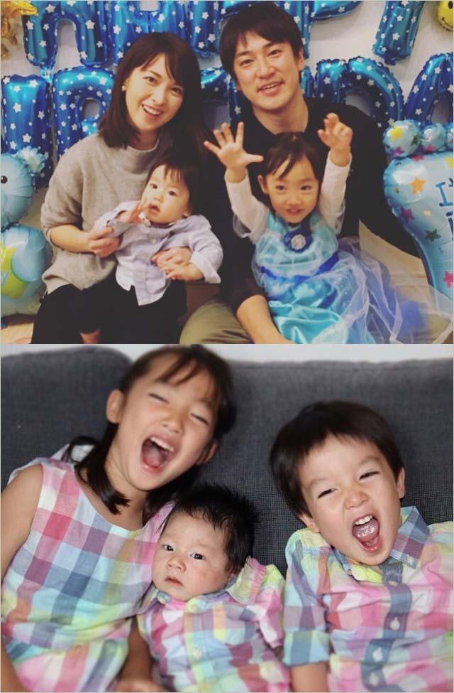 辻岡義堂アナ&妻・鷲尾春果の子供