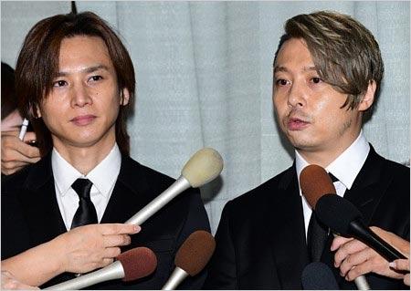 キンキキッズがジャニー喜多川社長のお別れ会に参列時の画像