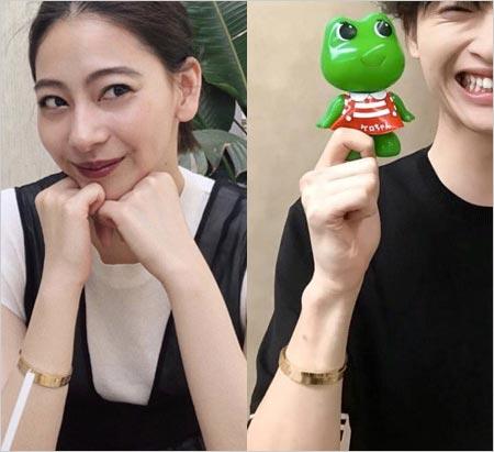 玉森裕太と貴田理沙のペアブレスレット着用疑惑、匂わせ画像