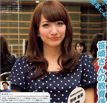 大学生時代の笹崎里菜アナ