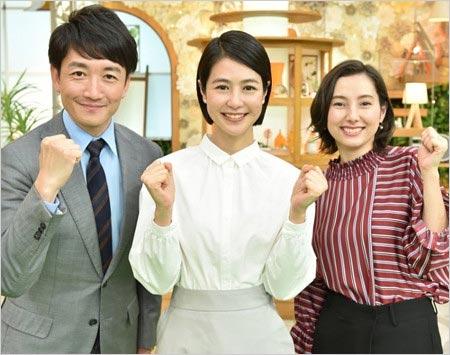 あさチャン出演の藤森祥平アナウンサー、夏目三久アナウンサー、加藤シルビアアナウンサー