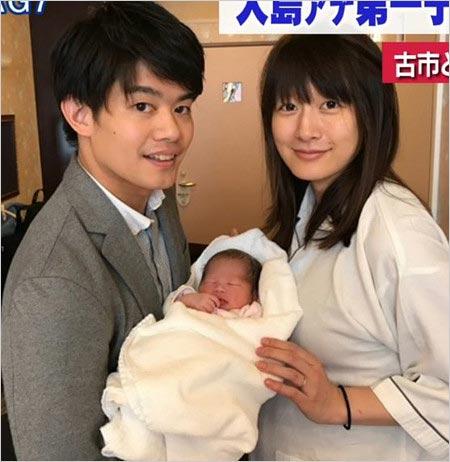小塚崇彦と元妻・大島由香里アナ、長女・樺子ちゃん誕生時の画像