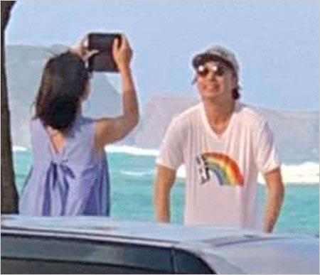櫻井翔と恋人A子のハワイ旅行写真
