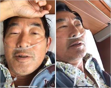 入院中の石田純一の顔写真