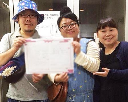 ニッチェ江上敬子が結婚、夫&相方・近藤くみこの3ショット写真