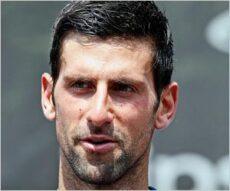 新型コロナウイルス感染のテニス選手ノバク・ジョコビッチ