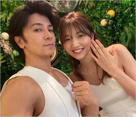 武田真治と妻・静まなみの2ショット写真