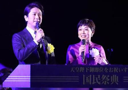 谷原章介と有働由美子アナウンサーが国民祭典で司会