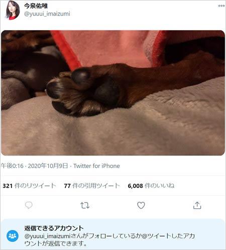 今泉佑唯最後のツイート