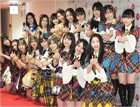 AKB48が2019年のNHK紅白歌合戦出場時の写真