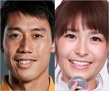 錦織圭選手と妻・観月あこ(山内舞)