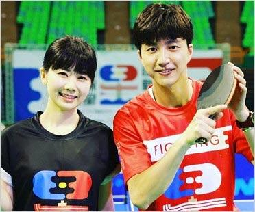 卓球の愛ちゃんと夫・江宏傑選手