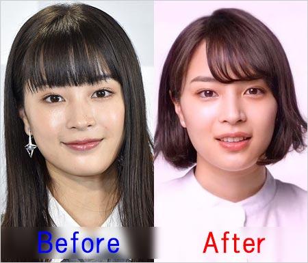 広瀬すずが髪型変える前と現在の顔比較画像