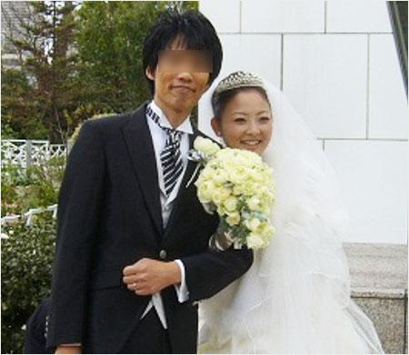 原田亜弥子アナと旦那の結婚式画像