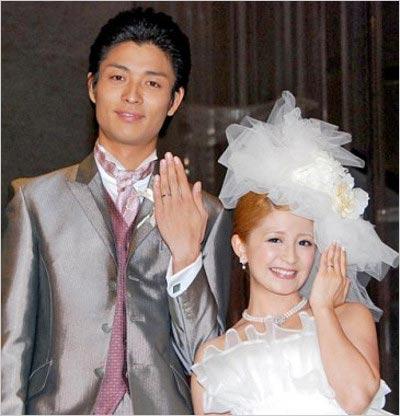 矢口真里と元夫・中村昌也の結婚式画像