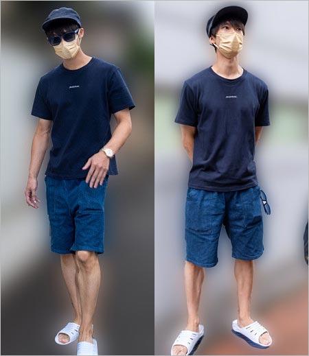 まことお兄さんサングラス・マスク姿のプライベート私服画像