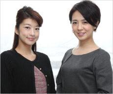 生野陽子アナと椿原慶子アナ